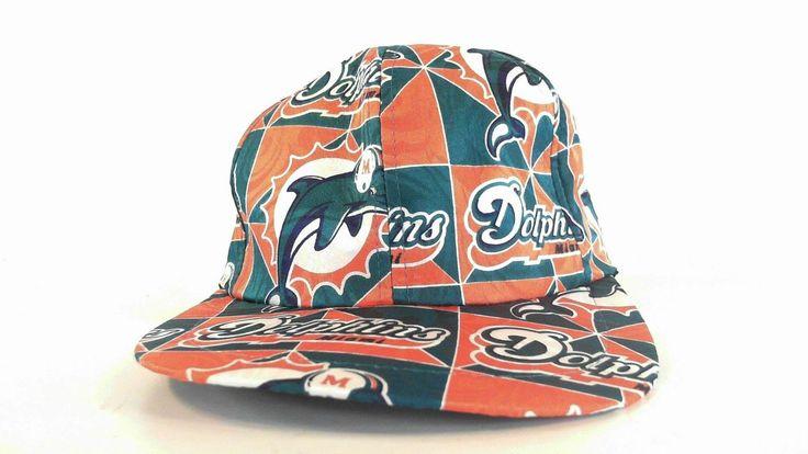 Nwt Nfl Miami Dolphins Womens Adjustable Baseball Cap Hat Orange Logo Designer