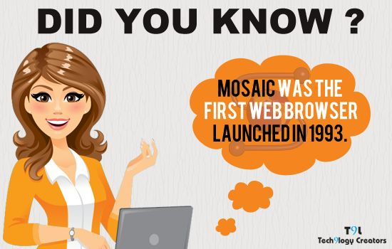 Did you know - MOSAIC was the First Web Browser launched in 1993. ‪