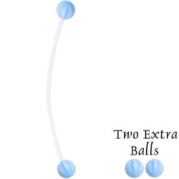 Blue Beach Balls #Pregnancy Belly Ring #bodycandy #bellyring