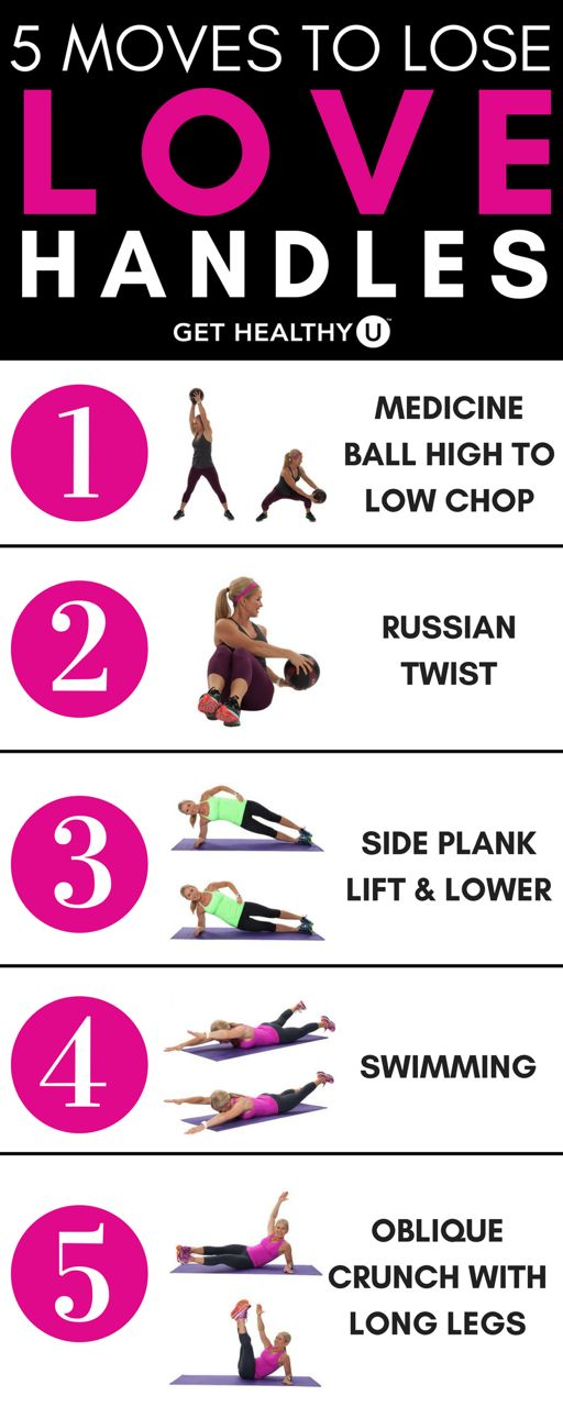 Are you frustrated with your love handles? These five exercises will help you get rid of your love handles and get on with a smaller waist.