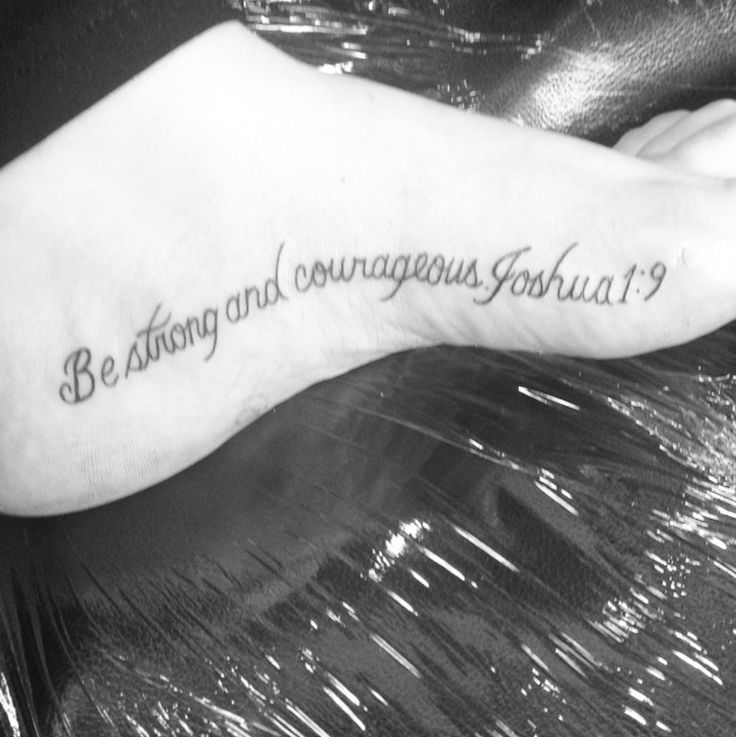 Joshua 1 9 Tattoos Arms