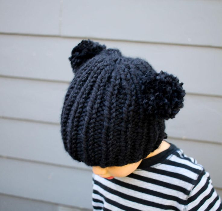Easy Bear Knit Beanie | This knit hat is perfect for your little cub.