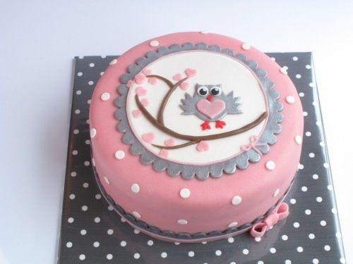 taart met een uiltje voor Lotte