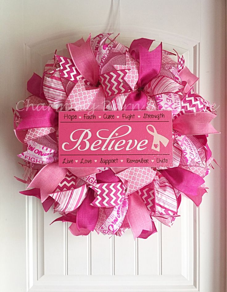 17 best ideas about breast cancer wreath on pinterest. Black Bedroom Furniture Sets. Home Design Ideas