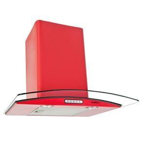 Coifa de Parede Nardelli Vidro Curvo - 60 cm com 3 Velocidades e Comando Soft Touch - Vermelha - Coifas no Pontofrio.com