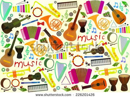 Classical musical instruments pattern