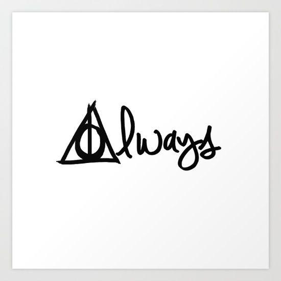 Always, Deathly Hallows, Harry Potter Art Print