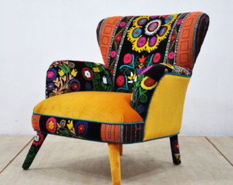 Awesome Suzani Armchair Honey Mustard By Namedesignstudio On Etsy