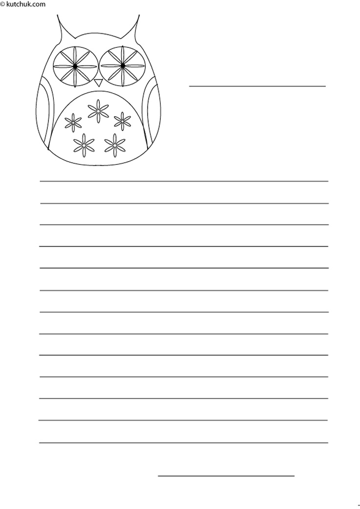 Stationery Halloween owl coloring