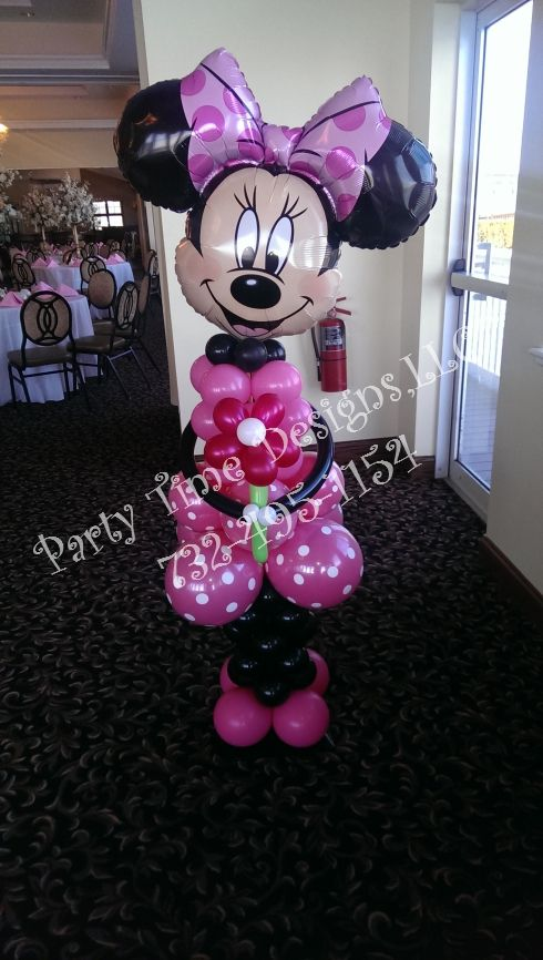 73 best minnie mouse party images on pinterest minnie for Balloon decoration minnie mouse