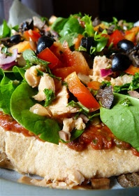 Quirky Cooking: Salmon Salad Pizza