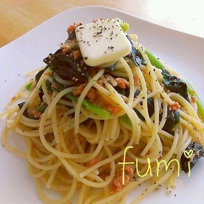 鮭フレークとほうれんそうの和風パスタ by *fumi*さん | レシピブログ ...
