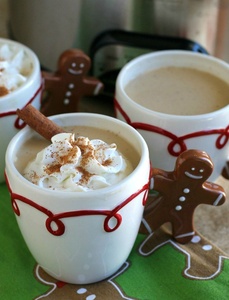 Slow Cooker Eggnog Lattes - The Magical Slow Cooker