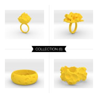 Intergalactic Yellow #3Dprint #3Dprintedjewelry #melinablazevicstudio #shapeways #3Dprinting #jewelry #intergalactic #exoplanets #iterativedesign #generativedesign #parametricdesign #design #productdesign #mesh #meshpattern #wireframe #fashion #fashiondesign