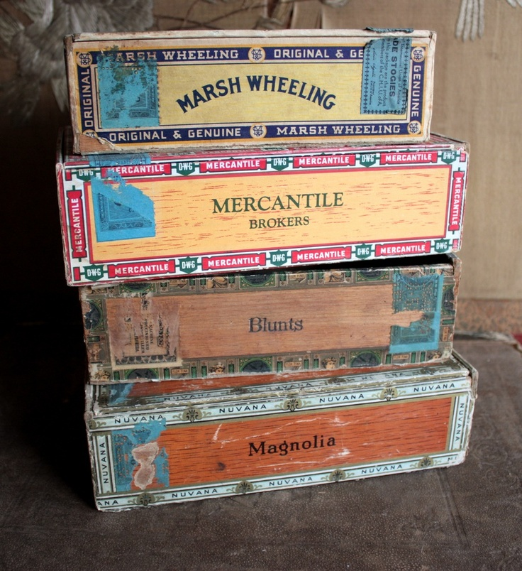 cigar boxes....We had plenty of these around our house. Dad used empty cigar boxes for screws etc.