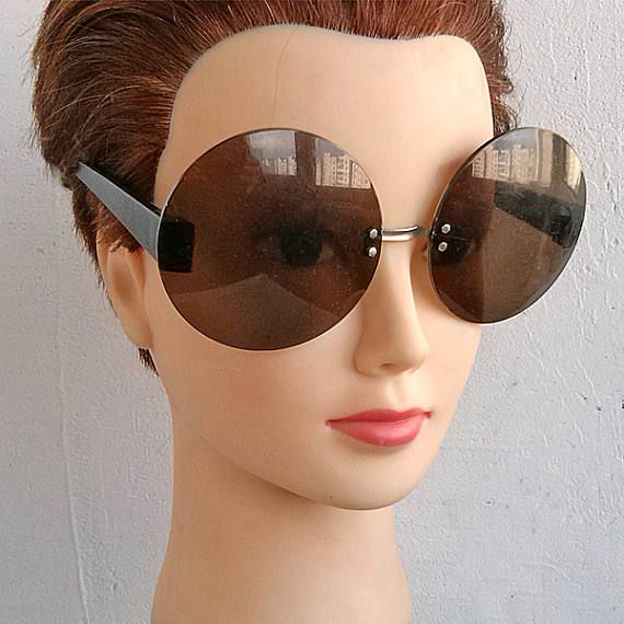 Vintage round sunglasses Beautiful oversized eyeglasses frame