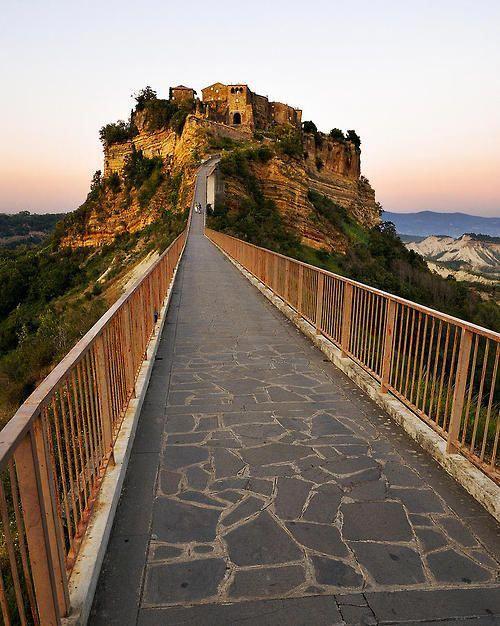 Civita Di Bagnoregio Bridge Viterbo Lazio Italy