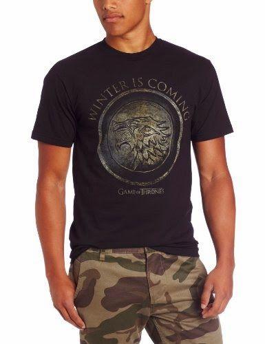 HBO'S Game of Thrones Men's Winter Is Coming Circle, Black, Large #TShirt #Men's #GameofThrones