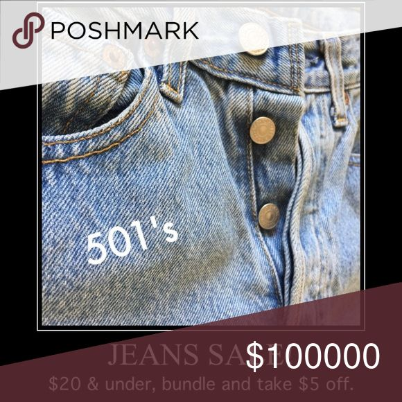 All Jeans on sale! $20 & under. Bundle and send me an offer $5 off and I'll accept. Must buy 2 or more. Any questions on Jeans, ask! I'm in a giving mood. Jeans