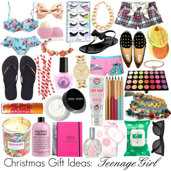 Christmas Gift Ideas: Teenage Girl by viv-luvz-ya on Polyvore featuring polyvore, fashion, style, Fat Face, Debenhams, Seafolly, Havaianas, Mulberry, Forever New, Adia Kibur, Catbird, ASOS, Bobbi Brown Cosmetics, Rosebud Perfume Co., Soap & Glory, Eos, Yes to Carrots, Lime Crime, philosophy, eylure, Kikkerland, Ray-Ban, Urban Rituelle and Maybelline