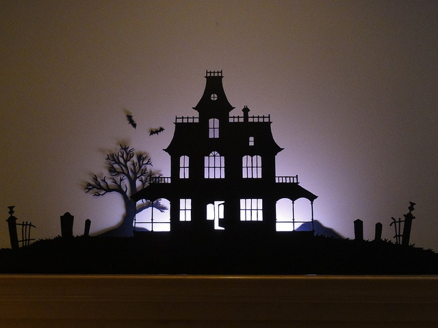 Haunted house flood lights : Best images about metal macabre on