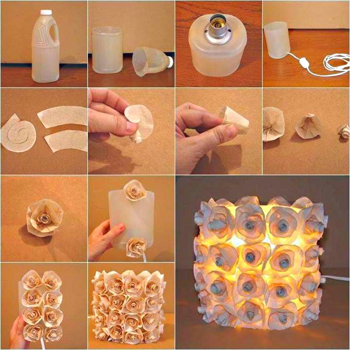 Make a beautiful rose lamp from a recycled plastic bottle Best Out of Waste http://calgary.isgreen.ca/