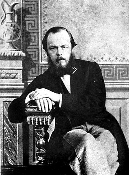 """Dostojewski in Paris (1863). Fjodor Michailowitsch Dostojewski wurde1821 in Moskau geboren. Er schuf unter anderem den Roman """"Die Brüder Karamasow"""" und Novellen wie """"Weiße Nächte"""" und """"Onkelchens Traum""""."""