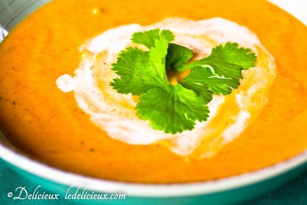 Thai Pumpkin Soup - Looking for a delicious pumpkin soup recipe? Try this delicious vegetarian Thai flavoured pumpkin soup.