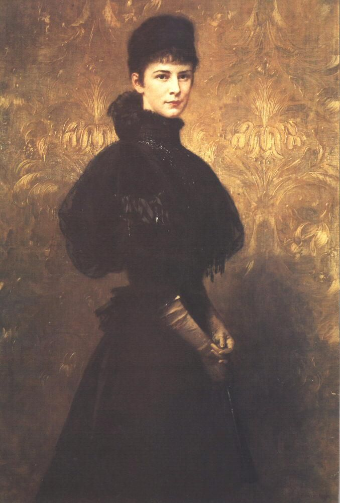 Portrait of Queen Elizabeth  1899  Oil on canvas, 142 x 95,5 cm  Hungarian National Gallery, Budapest.Gyula Benczúr