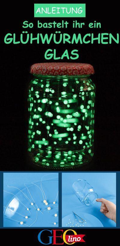 Glühwürmchen im Glas