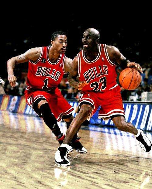 Rose & Jordan= Best imaginary duo. #Bulls
