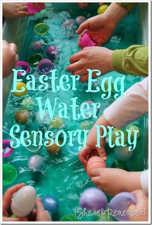 Easter Egg Water Sensory Play