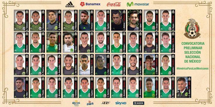 5 CHIVAS EN LA LISTA PRELIMINAR DEL TRI PARA COPA AMÉRICA Un total de 40 futbolistas fueron convocados por el técnico Juan Carlos Osorio. La Selección Nacional de México iniciará su concentración el domingo 15 de mayo por la noche. El torneo Copa América se celebrará del 3 al 26 de junio en EU.