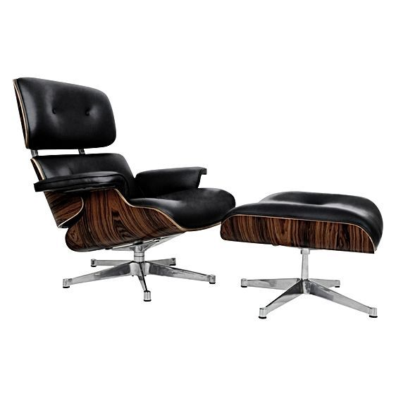 Replica Eames Leather Lounge Chair & Ottoman by Replica Charles & Ray Eames