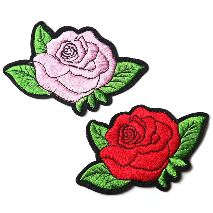 New Arrival Fallout Parches Ropa Brazil 2 Colors Flowers Patch Applique Iron On Clothing Embroidered Patches Beautiful Stickers