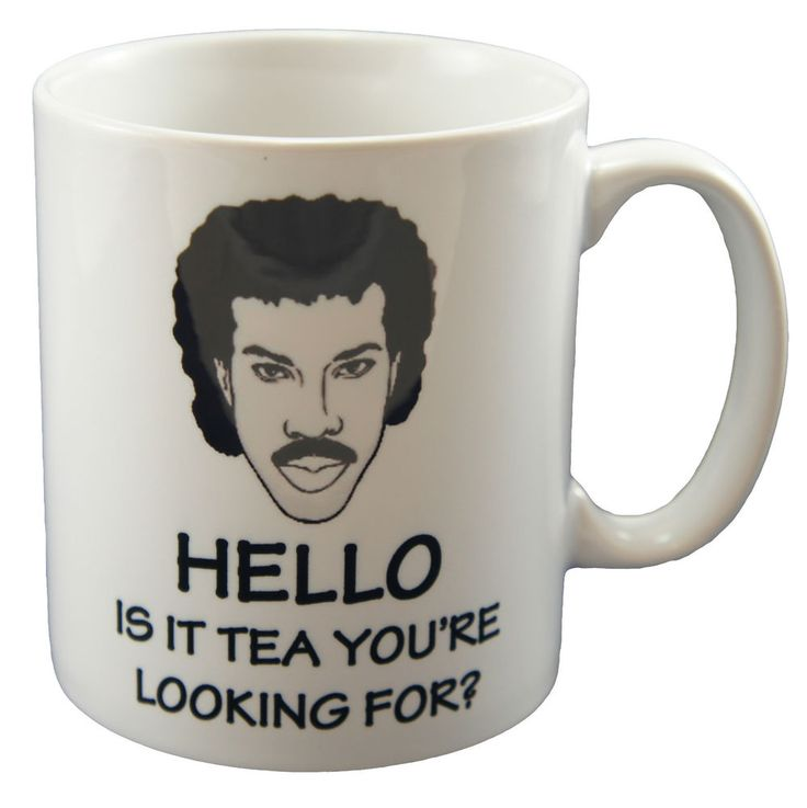 This is hysterical .....Lionel Richtea Mug - Hello is it tea you're looking for? - Ceramic Mug