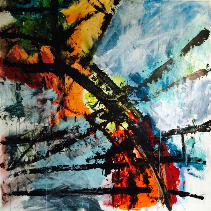 Kell Jarner. Acryl på lærred, 160 x 160 cm, 2015