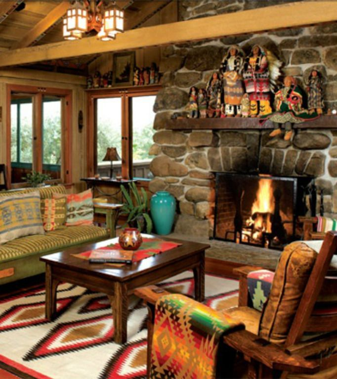 Western Rustic Cabin Retreat Make Mine Rustic Pinterest Home Carpets And The O 39 Jays