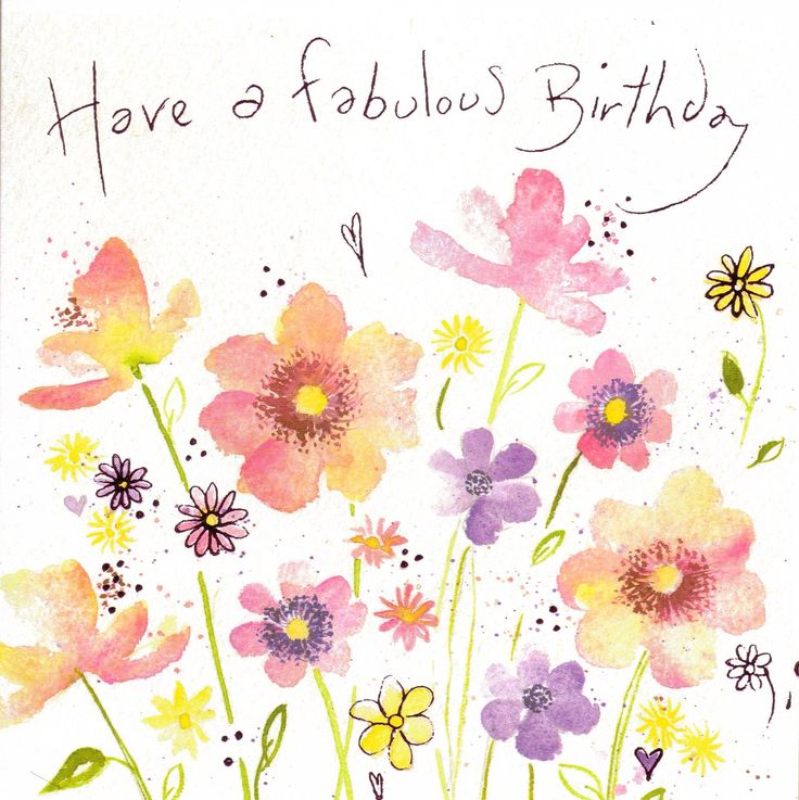 Happy Birthday Flower Clip Art