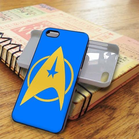 Yellow Blue Star Trek Logo iPhone 5C Case