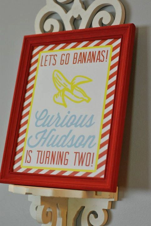 Curious George Inspired  Go Bananas  DIY by oneswellstudio on Etsy, $6.00