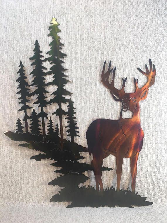 Check out this item in my Etsy shop https://www.etsy.com/listing/543634815/whitetail-buck-deer-w-mountain-trees