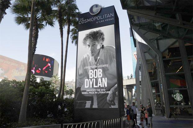 Cartaz anuncia show de Bob Dylan em luxuoso cassino de Las Vegas