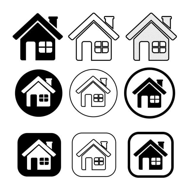 Simple House Symbol And Home Icon Sign Home Clipart Home Icons House Icons Png And Vector With Transparent Background For Free Download Home Icon Simple House Symbols