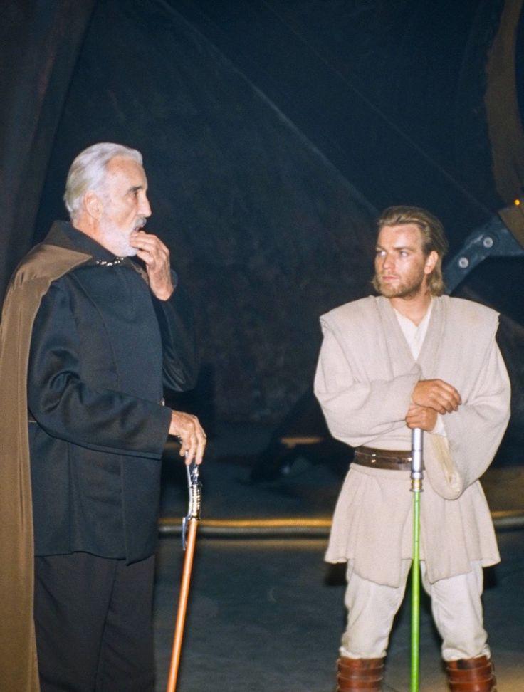 Behind the scenes of Attack of the Clones: Christopher Lee Ewan McGregor