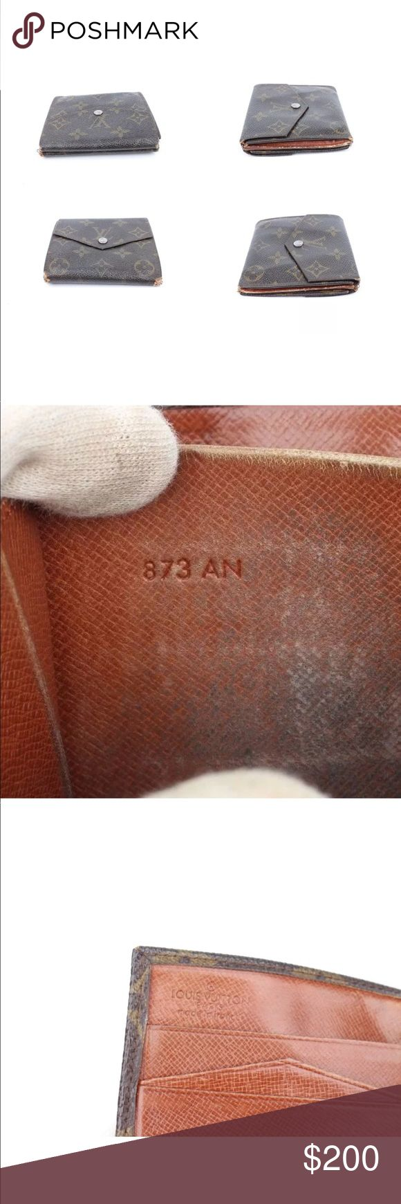 Authentic Louis Vuitton Monogram Elise Wallet Authentic Louis Vuitton Monogram Elise Wallet 873 rare in used condition as shown in the pictures Louis Vuitton Bags Wallets