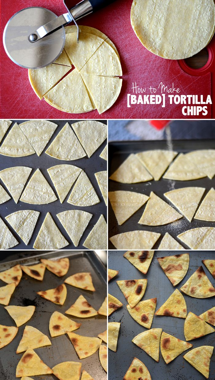 How to Make Baked Tortilla Chips , sprinkle with brown sugar and cinnamon and dip into apple sauce.