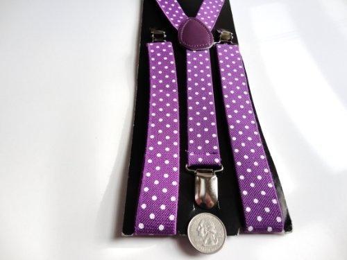 Men's suspenders adjustable 1 inch suspender (Purple with White Polka Dots) Silk Solutions,http://www.amazon.com/dp/B0066JRNX6/ref=cm_sw_r_pi_dp_a4Klrb0VW27NFDQZ