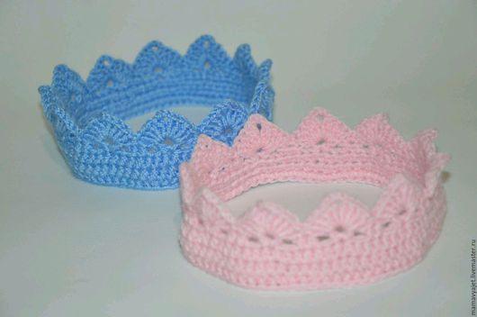 Для новорожденных, ручной работы. Ярмарка Мастеров - ручная работа. Купить Вязаная корона для фотосессии, корона для новорожденных. Handmade.