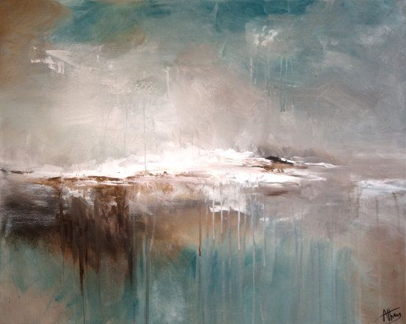 Seascape, Landscape, Original, abstract, art, Handmade painting, Living Room Art decor -- FREE UK DELIVERY on Etsy, £340.00